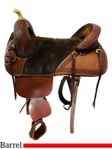 17.5Inch Used Bob Marshall Maker Treeless Pleasure Barrel Saddle *Free Shipping*
