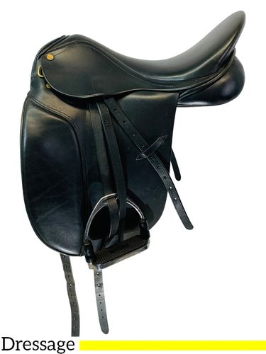 17.5Inch Used Circuit Dressage Saddle 06 - 22454 *Free Shipping*