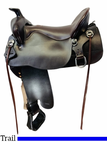 SOLD 2021/03/04 17.5Inch Used Tucker Big Bend Trail Saddle, FLOOR MODEL T93