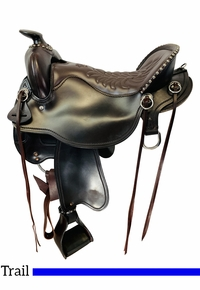 17.5Inch Used Tucker Cheyenne Frontier Trail Saddle T67 *Free Shipping*