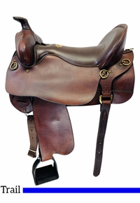 PRICE REDUCED! 17.5Inch Used Tucker Gen II High Plains Trail Saddle 262 *Free Shipping*