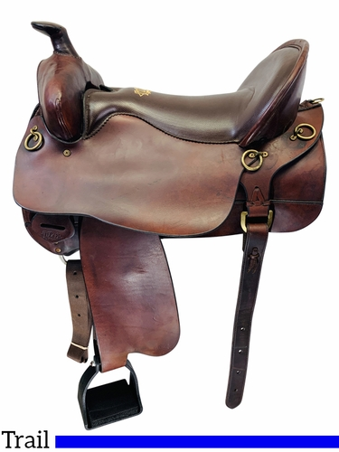 17.5Inch Used Tucker Gen II High Plains Trail Saddle 262 *Free Shipping*