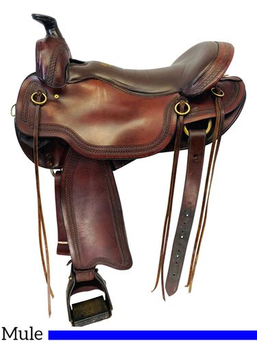 SOLD 2019/10/14  17.5Inch Used Tucker Gen II South Pass Mule Trail Saddle 288 *Free Shipping*