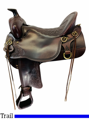 SOLD 2021/03/15 17.5Inch Used Tucker High Plains Trail Saddle 260 *Free Shipping*