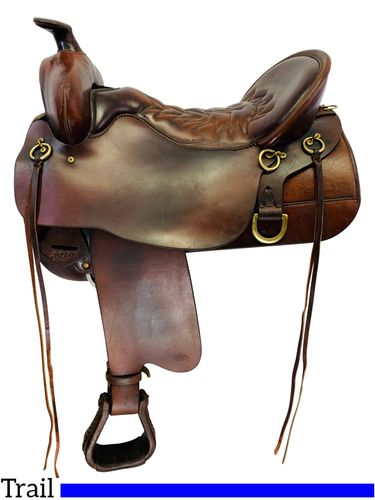 SOLD 2019/12/09  PRICE REDUCED! 17.5Inch Used Tucker High Plains Trail Saddle 260 *Free Shipping*