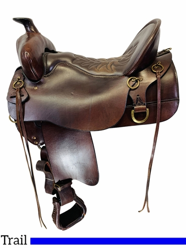 SOLD 2021/03/17 17.5Inch Used Tucker High Plains Trail Saddle 260 *Free Shipping*