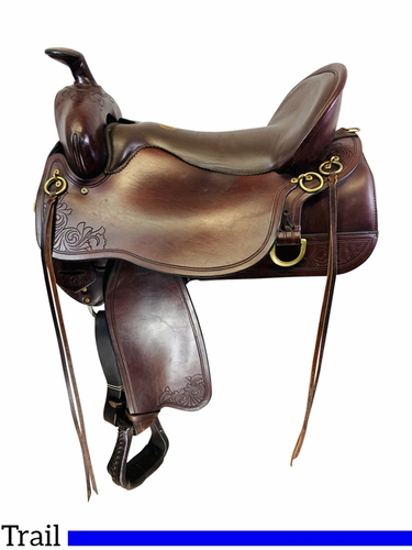 SOLD 2021/04/01 17.5Inch Used Tucker High Plains Trail Saddle 262 *Free Shipping*