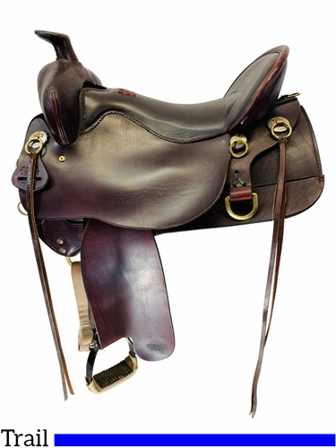 SOLD 2021/03/23 17.5Inch Used Tucker High Plains Trail Saddle tkT60 *Free Shipping*