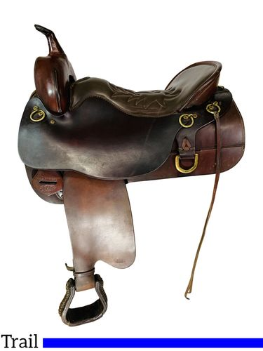 17.5Inch Used Tucker Trail Saddle 157 *Free Shipping*