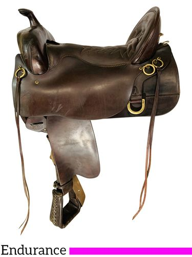 SOLD 2021/08/29 17.5Inch Used Tucker Trail Saddle 270 *Free Shipping*