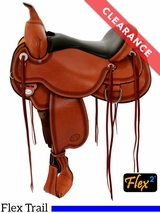 """SOLD 18/08/31 16"""" Circle Y Pioneer Flex2 Trail Saddle 1665, CLEARANCE"""