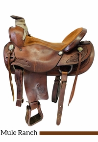 17 Inch Used American Saddlery Mule Rancher 1890-7 *Free Shipping*