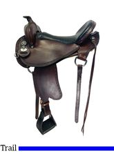 SOLD 2019/11/20  17 Inch Used Bar J Southfork Extra Wide Trail Saddle 100 *Free Shipping*