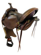 SOLD 2021/04/20 17 Inch Used Big Horn Flex Trail Saddle 1693 *Free Shipping*