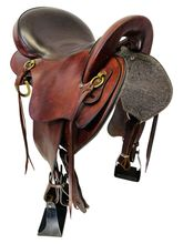 SOLD 2019/11/27  17 Inch Used Big Horn Flex Trail Saddle 806 *Free Shipping*