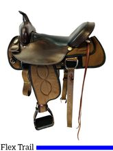 17 Inch Used Big Horn Trail Flex Synthetic Saddle 299 *Free Shipping*