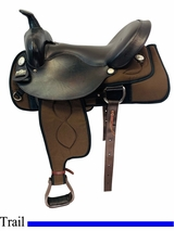 17 Inch Used Big Horn Trail Saddle 299 usbh4499 *Free Shipping*