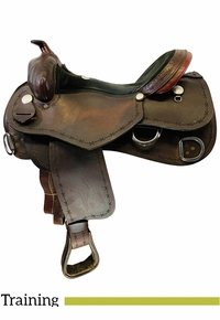 17 Inch Used Billy Royal Rancher Extreme Cowboy Trainer Saddle Custom *Free Shipping*