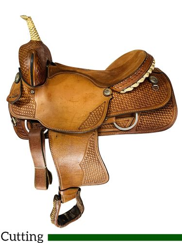 SOLD 2021/10/14  17 Inch Used Billy Shaw Cutting Saddle Custom *Free Shipping*