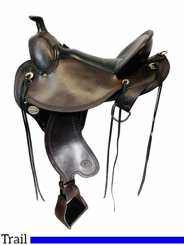 SOLD 2021/04/05  17 Inch Used Circle Y Kentucky Flex2 Trail Gaiter Saddle 1582 *Free Shipping*