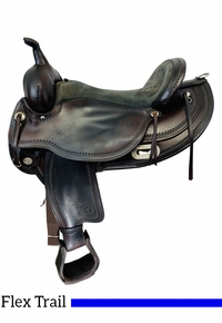 PRICE REDUCED! 17 Inch Used Circle Y Flex Lite Omaha Trail Saddle 1554 *Free Shipping*