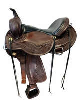 17 Inch Used Circle Y Julie Goodnight Wind River Flex2 Saddle 1750 *Free Shipping*