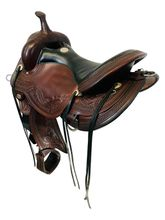 SOLD 2021/01/12 17 Inch Used Circle Y Julie Goodnight Wind River Flex2 Trail Saddle 1750 *Free Shipping*