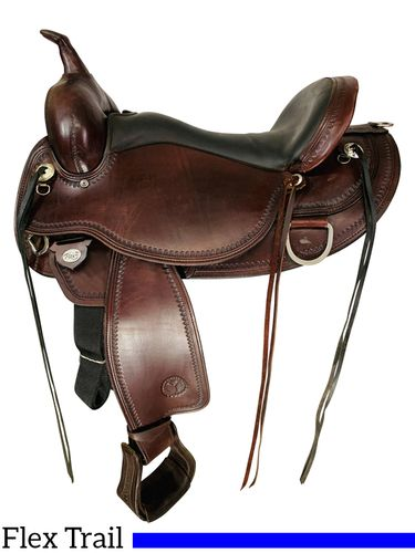 SOLD 2021/10/06  17 Inch Used Circle Y Omaha Flex2 Trail Saddle 1554 *Free Shipping*