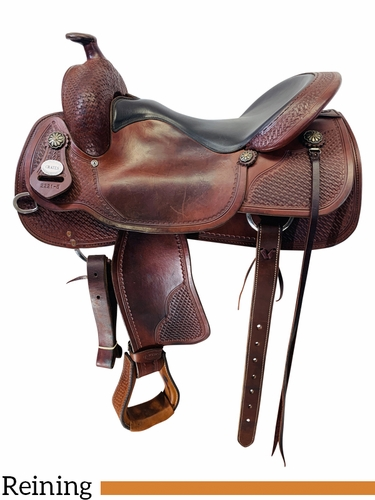 17 Inch Used Crates Classic Reining Saddle 2221 *Free Shipping*