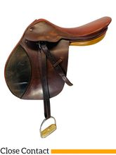 PRICE REDUCED! 17 Inch Used Custom Joseph Sterling and Sons Ltd Close Contact Saddle Custom *Free Shipping*