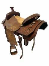 17 Inch Used Double J Team Roper Saddle 56946 *Free Shipping*