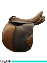 PRICE REDUCED! 17 Inch Used Duett Companion All Purpose English Saddle 511 *Free Shipping*