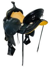 17 Inch Used Eli Miller Maker Gaited Trail Saddle 32068 *Free Shipping*