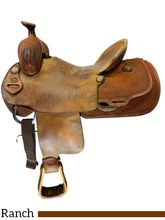 SOLD 2021/03/01  17 Inch Used Fort Worth Saddle Co Ranch Saddle Custom *Free Shipping*