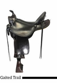 17 Inch Used Henry Miller Double Creek Old Timer Gaited Trail Saddle 106 *Free Shipping*