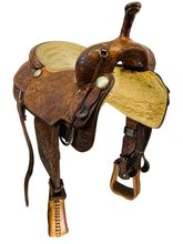 17 Inch Used Price McLaughlin Maker Cutting Saddle Custom *Free Shipping*