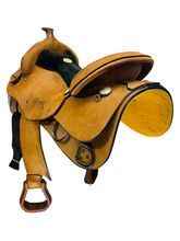 17 Inch Used Rocking R Trainer Saddle 2300 *Free Shipping*