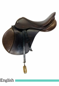 PRICE REDUCED! 17 Inch Used Smith Worthington Danzig Hunt Saddle 781 *Free Shipping*