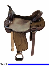 17 Inch Used South Bend Saddle Co Lady Trail Saddle 2000 *Free Shipping*