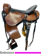 PRICE REDUCED! 17 Inch Used Synergist Custom Endurance Saddle 2834 *Free Shipping*