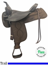 """PRICE REDUCED! 17"""" Used Big Horn Wide Trail Saddle 278 usbh4109 *Free Shipping*"""