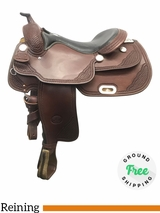 """PRICE REDUCED! 17"""" Used Billy Cook Wide Reiner Saddle 9602 usbi4073 *Free Shipping*"""