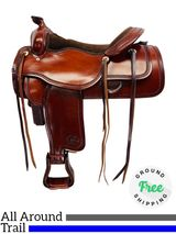 "17"" Used Billy Royal All-Around Saddle & Trail Ranch Horse Pleasure 32521 usbr4364 *Free Shipping*"