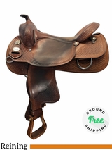 """PRICE REDUCED! 17"""" Used Crates Medium Reiner Saddle Classic 2221 uscr4173 *Free Shipping*"""