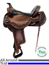 "17"" Used Reinsman 4102 All-Around Trail Saddle usrs4342 *Free Shipping*"