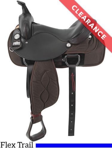 "17"" Big Horn Cushion Flex Tree Saddle 298, CLEARANCE"