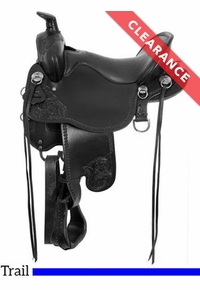"18.5"", Black Tucker High Plains Trail Saddle T60, CLEARANCE"
