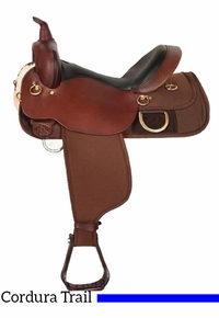 "18.5"" High Horse Big Rock Cordura Trail Saddle 6923 w/Free Pad"