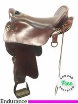 """PRICE REDUCED! 18.5"""" Used Tucker Wide Endurance Trail Saddle 158 ustk4059 *Free Shipping*"""