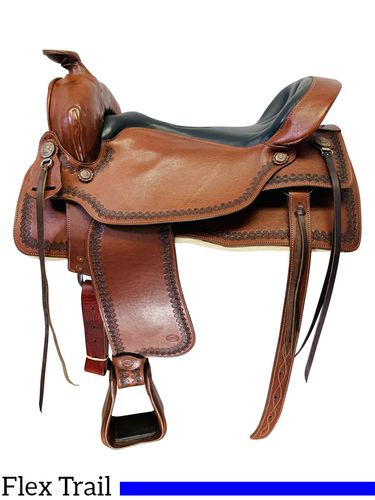 PRICE REDUCED! 18.5Inch Used Ortho-Flex Western Trail Saddle TE-190 *Free Shipping*